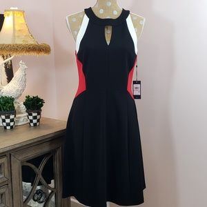NWT Tommy Hilfiger black, red, white dress size 10